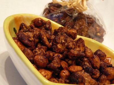 Chilis karamellizált magvak recept
