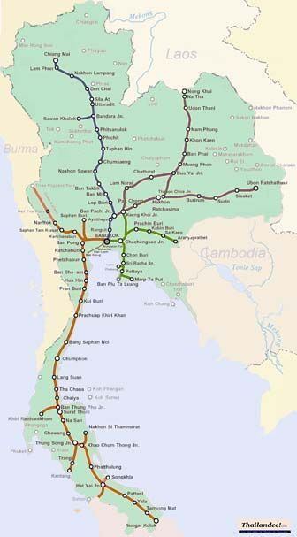 Carte Bali Thailande.Carte Trains Thailande Thailande In 2019 Thailand Travel