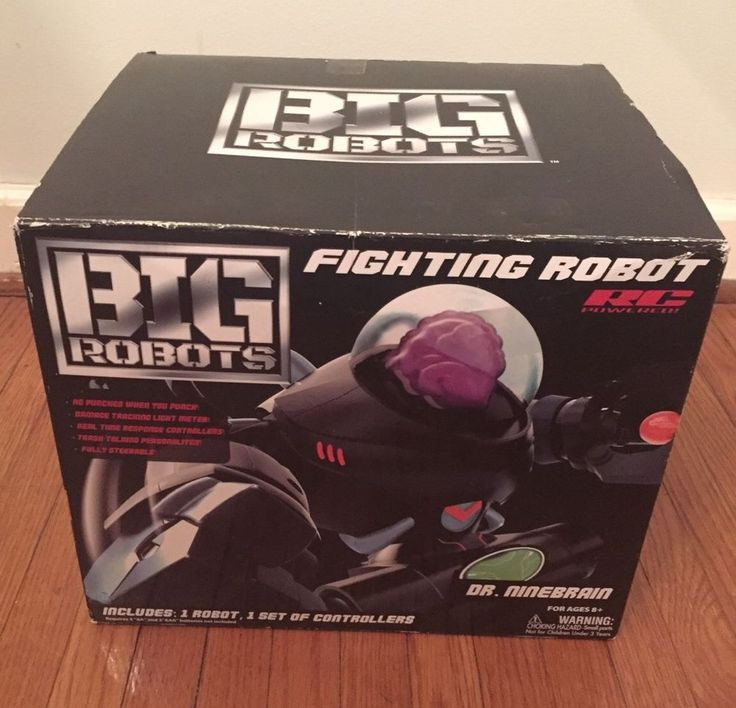 Fighting Robot Big Robots - Dr. Ninebrain Remote Control New In Box Nice! WOW!    eBay
