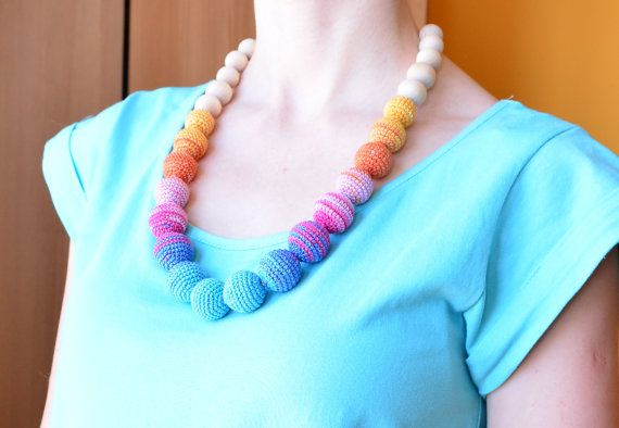 Summer teething necklace Eco friendly jewelry for by MyFirstToy