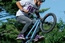 BMX at Muskoka Woods -- Not sure my daughter is ready for this yet! But that sure does look fun!!  Perfect for teens!!