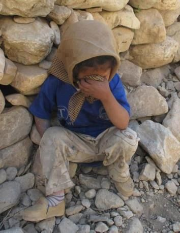 Lost her family. Got no one now. #Syria is Crying, Syria's children are crying #FB
