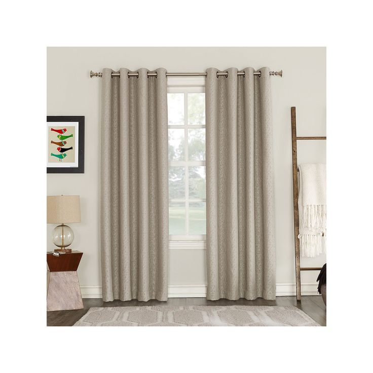 Talin Blackout Lined Window Curtain, Natural