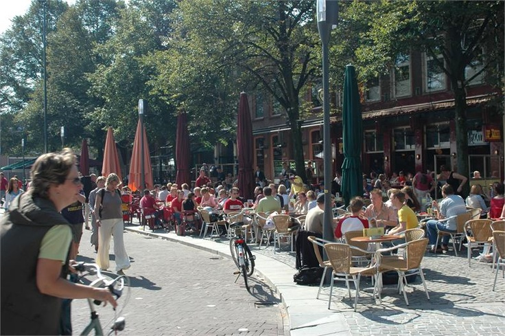 Innercity of Enschede (Dutch municipality) - The Old Market is the living room of Enschede. It is a lively square with many restaurants and cafés: a perfect place to meet +++++