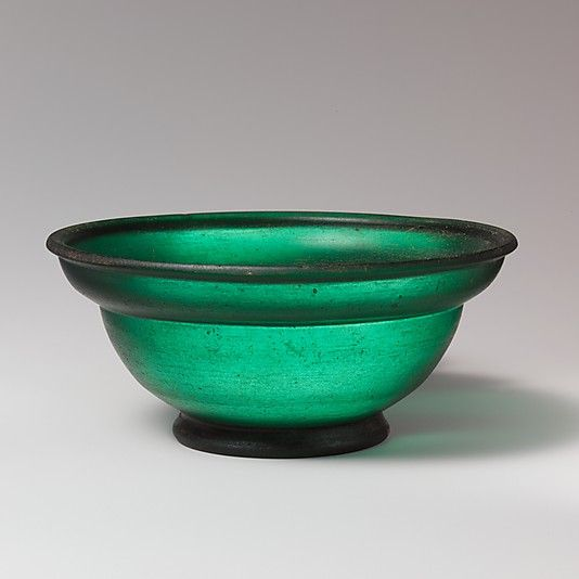 Glass bowl, Early Imperial, Julio-Claudian, 1st half of 1st century A.D., Roman