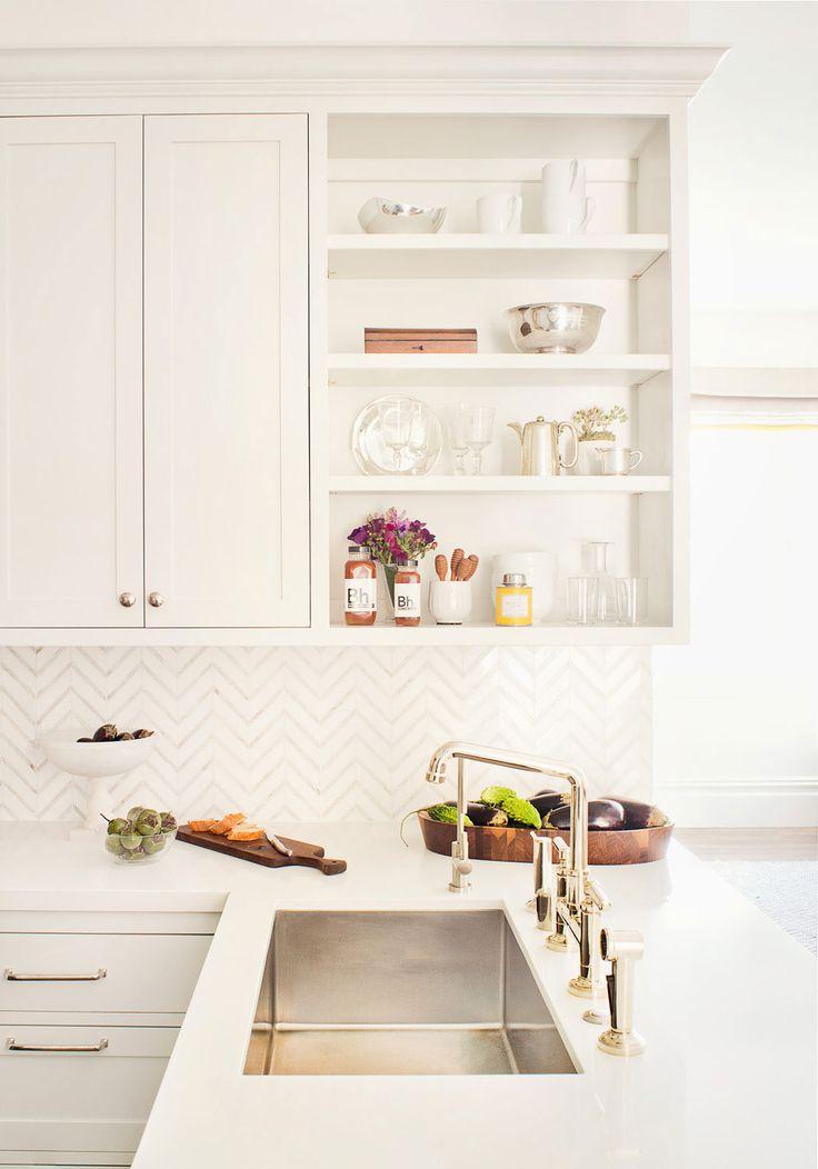 Chic white kitchen.
