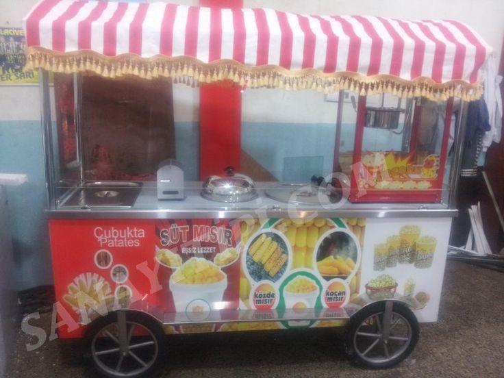 Popcorn + Bardakta Mısır + Koçan Mısır + Popcorn Arabası » - Sanayi tipi