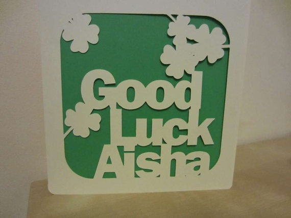 13 best good luck images on Pinterest Cards, Drawing and Funny - good luck card template
