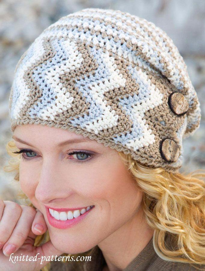 Women's hat crochet pattern  ༺✿ƬⱤღ http://www.pinterest.com/teretegui/✿༻Vfree