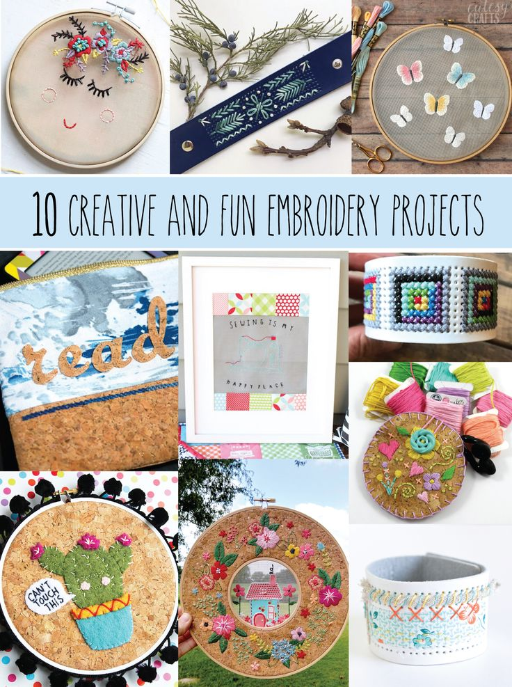 10 Creative and Fun Embroidery Projects