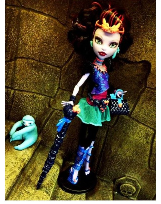 Jane Boolittle she might be part of 13 wishes or Frights Camera Action but the Frights Camera Action new characters are, Clawdia Wolf Clawdeen's older sister,Honey Swamp,and some more clawsome new characters. Can't wait until this movie comes out.