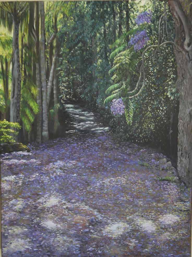 A carpet of Jacarandas in Mount Tamborine, Queensland's Gold Coast