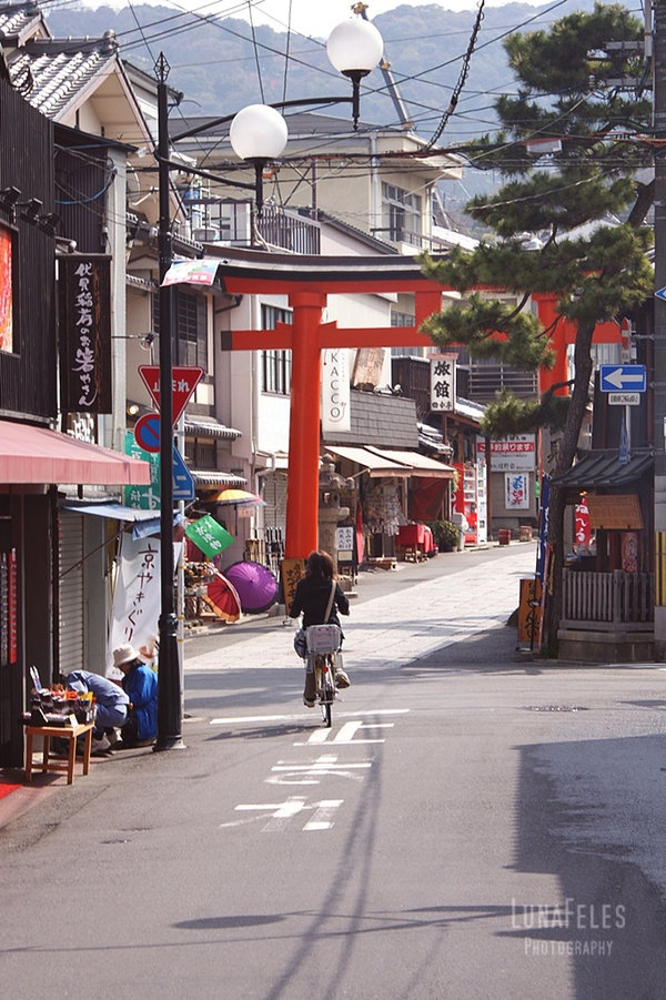 streets of Kyoto - Fushimi Inari 04 by LunaFeles.deviantart.com
