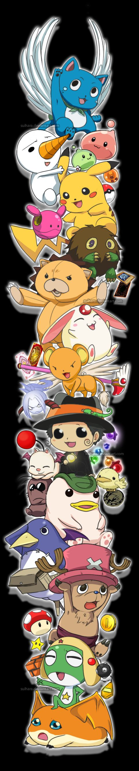 Mascot Crossover by Suihara.deviantart.com on @deviantART - i need to watch more anime. I only got about half of these