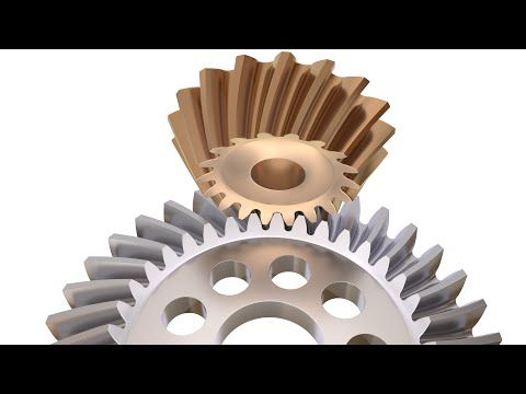 Tutorial: How to Model A Bevel Gear Drive in Blender 3D - YouTube