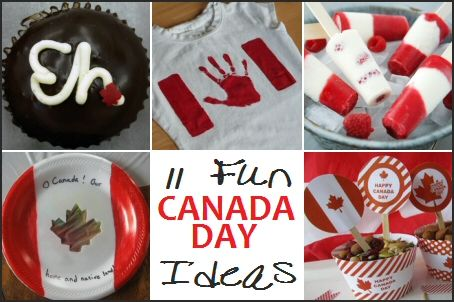 Canada Day - 11 Food, Decor  Craft Ideas via MrsJanuary.com #frugal #fun