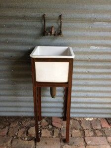vintage industrial basin and tap ware