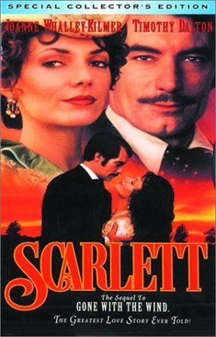"""""""Scarlett""""...the sequel to """"Gone With The Wind"""" with Joanne Whalley-Kilmer and Timothy Dalton. It is an AMAZING film! No one could have portrayed Scarlett O' Hara and Rhett Butler any better...except Vivien Leigh and Clark Gable! Both would have been proud of this pair! <3"""