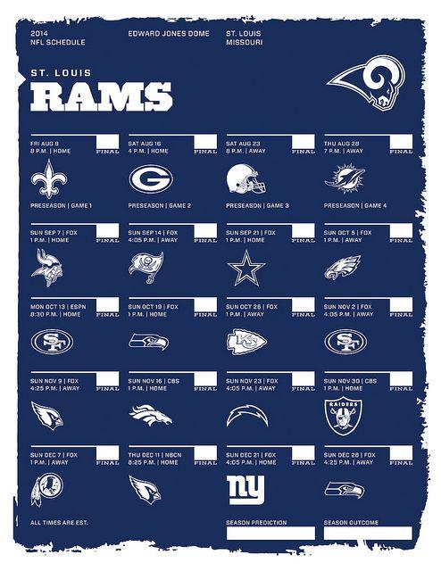 St. Louis Rams 2014 NFL Schedule