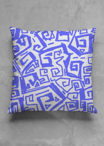 Ocean - blue - luxury pillow design by Charles Bridge 7x - buy in my VIDA e-shop    #luxurious#pillow#interior#interiordecor#art#artprint#fabricprint#sofa#spring#ocean#oceaninspiration#waves#water#waterart#artist