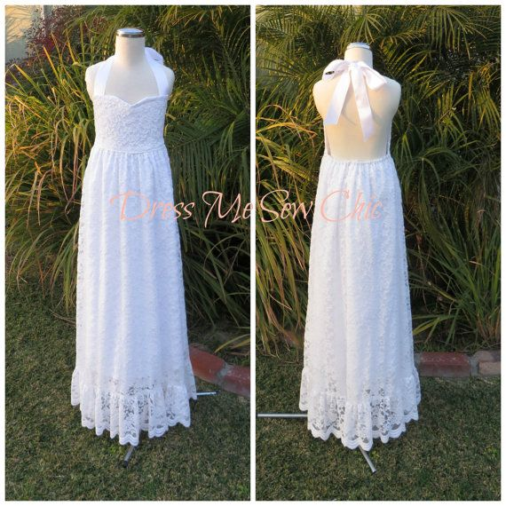 Sample Sale: Bohemian Flower Girl Dress. Maxi by Dressmesewchic