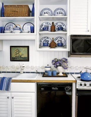 Blue And White Kitchen 357 best blue & white kitchens images on pinterest | dream