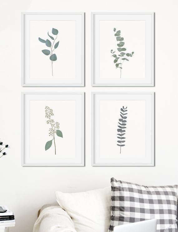 Eucalyptus Print Set of 4