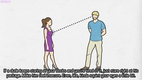 If A Guy Keeps Staring At Your Boobs Funny