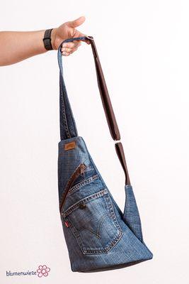Crossback aus Jeanshose und Pyjama