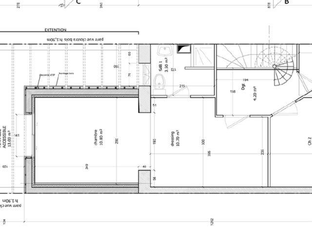 extension boise et are pour une maison mitoyenne le plan de masse - Plan De Masse Maison Gratuit