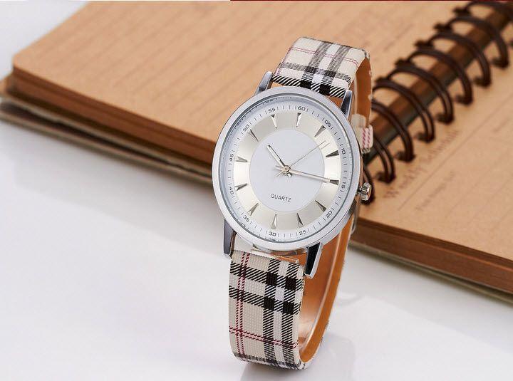 White face crean band Scott Clock Ladies Wrist Watch - €5.50 direct from supplier (FREE SHIPPING) #WatchesDirectEU #womensfashion #womenswatches #watches