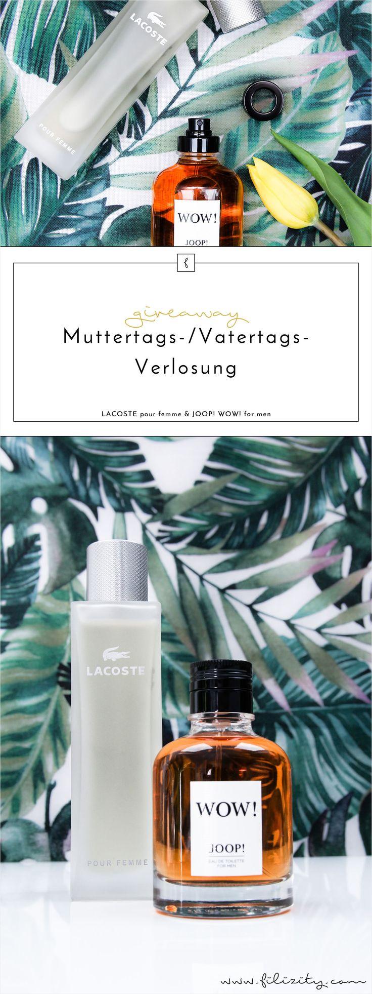Beschenke deine Eltern oder dich selbst mit einem hochwertigen Parfüm zum Muttertag/Vatertag. Gewinne ein Duft-Set von Joop! und Lacoste für Sie & Ihn.