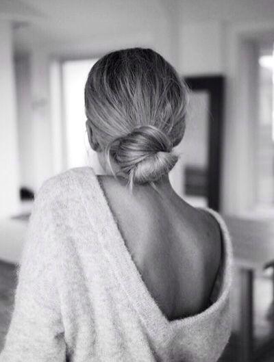 That looped bun! love low maintenance undone hair.