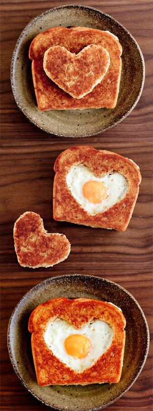 Cute & Easy Valentines Day Breakfast Sandwich recipe | repinned by www.whenangelscook.com