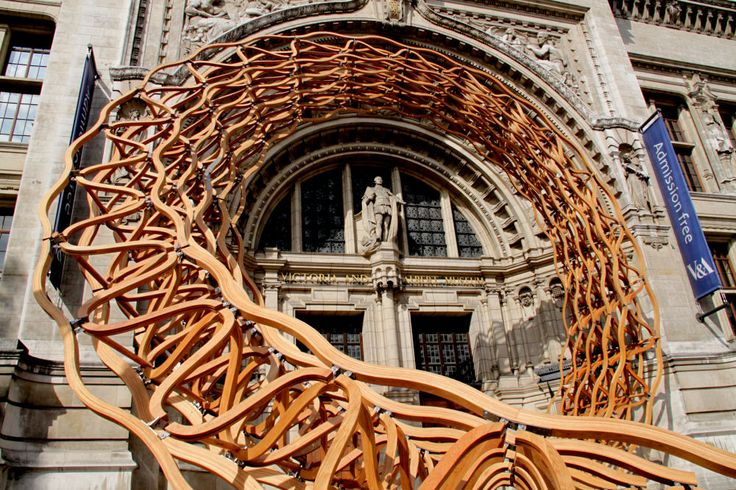 """Timber Wave"" installation by Amanda Levete Architects and ARUP at the Victoria and Albert Museum for the London Design FestivalFestivals 2011, Design Trends, London Design, Stephen Citron, Architecture, Timber Waves, Design Festivals, Albert Museums, London Photos"