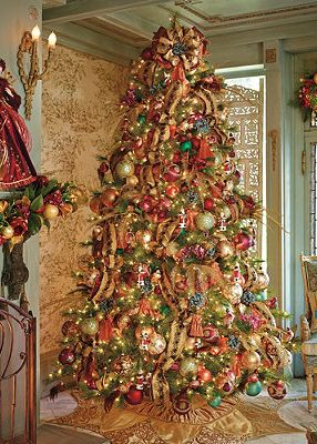 Williamsburg® Assorted Ornaments Decorate This Fabulous Tree