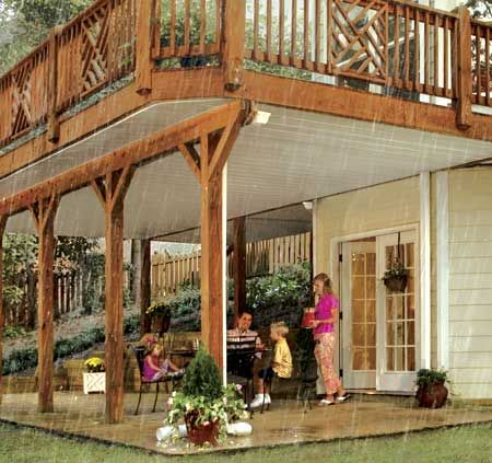 DrySnap Under Deck Rain Carrying System : Richu0027s Home Exteriors, LLC :  Vinyl Siding,
