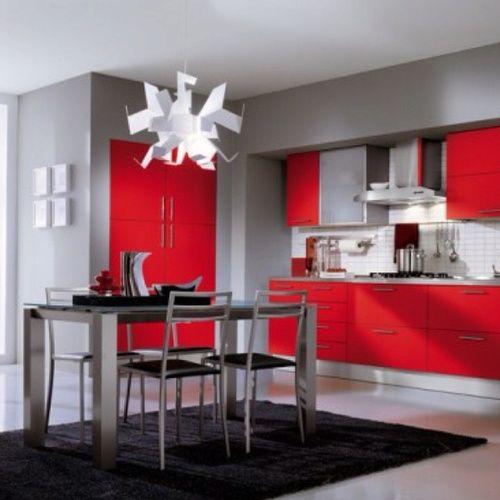 25 best Red Hot Kitchens! images on Pinterest | Kitchen ideas ...