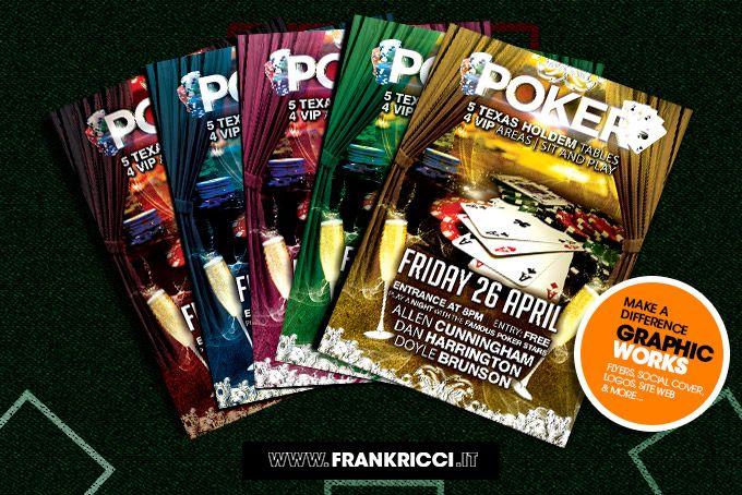 Organizzi tornei di #poker e hai bisogno di #Flyers? Guarda qui http://frankricci.it/poker-event-01/  forse c'è quello che fa per te.