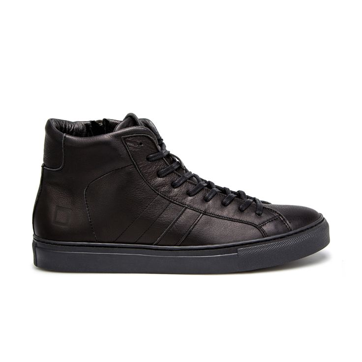 D.A.T.E. Fall Winter 2015-16 // Newman High Leather Black. Shop at:http://bit.ly/1MRRQTZ #datesneakers