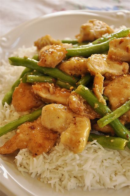 General Tso's Chicken & Green Beans - your homebased mom