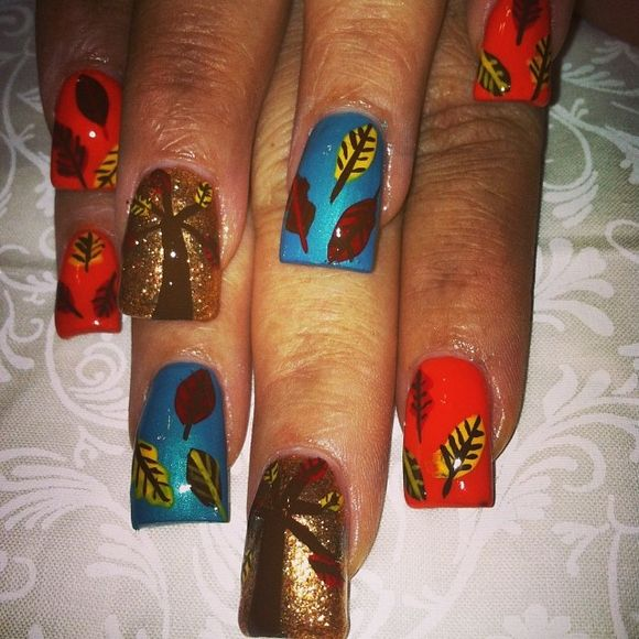 81 best Nail Art   Fall images on Pinterest   Nail ...