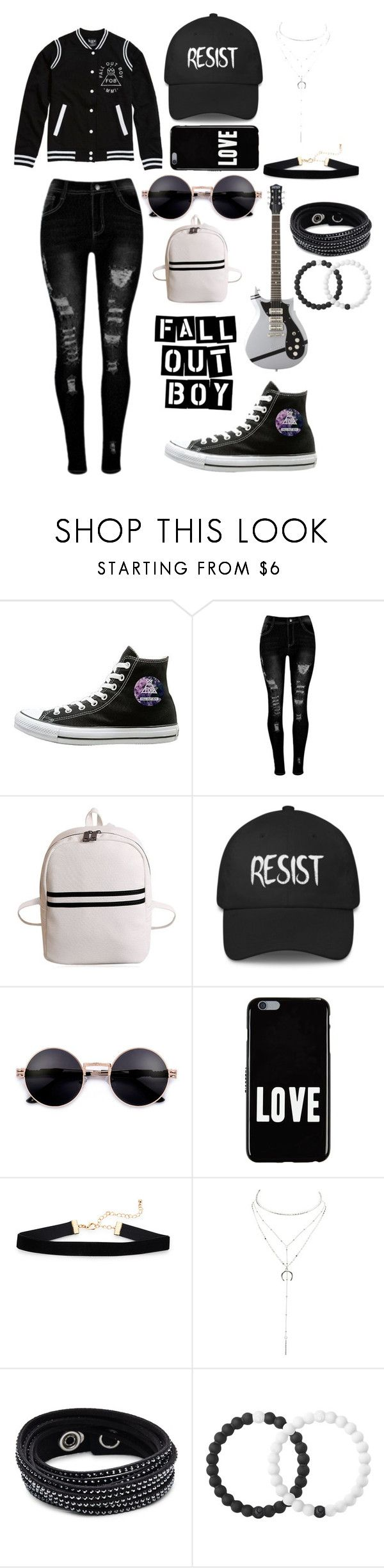 """Fall out boy"" by sdworaczyk ❤ liked on Polyvore featuring Hot Topic, Givenchy, Charlotte Russe, Swarovski and Lokai"