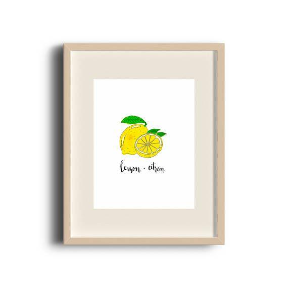 Lemon | Lemon Print | Lemon Art | Lemon Painting | Lemon Illustration | Art Print | Illustration | Fruit Art | Etsy Store | by Élana Camille #ElanaCamilleCreates