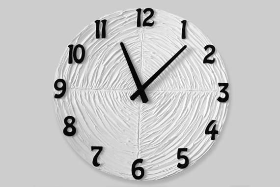 #blackandwhite #white #clock #inetrior LARGE  WALL CLOCK White Clock Wedding Gift White Wall by PilipArt