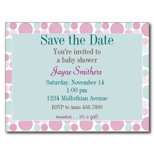Nice Save The Date Baby Shower Postcard