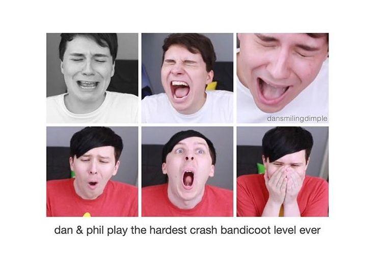 Dan and Phil Play Hardest Crash Bandicoot Level EVER