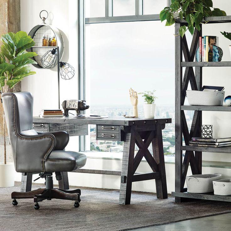 IRONSIDE DESK -CAFÉ - Office Furniture goals from Urban Barn, Canada.  Decor, Office Decor, Home Office