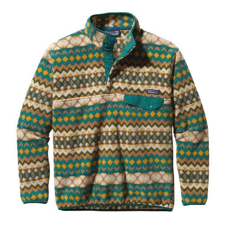 • Patagonia Men's Synchilla Snap-T Fleece Pullover - Cliff: Arbor Green •