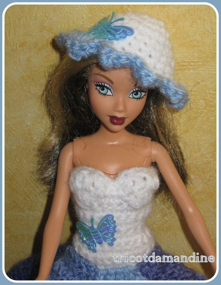 barbie bleuette  http://tricotdamandine.over-blog.com/2015/10/une-jolie-petite-bleuette.html